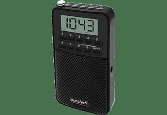 Radio portátil - Sunstech RPD S81 BK, AM/FM PLL, 100 presintonías, altavoz, pantalla LCD, 2W