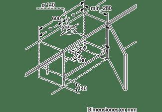 Campana - Balay 3BT263MX, Telescópica, 3 potencias, 360m³/h, Inox