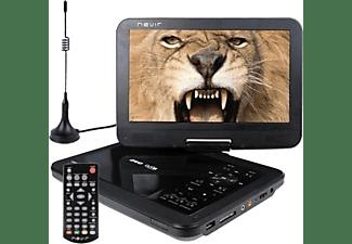 """DVD Portátil - Nevir NVR-2768DVD-PUCT2, 10.1"""" 1024 x 600, TDT2, Negro"""