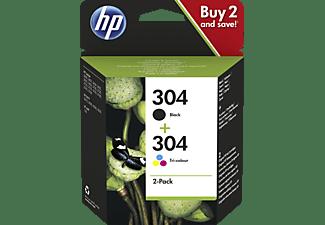 HP 304 Tintenpatrone Schwarz/Cyan/Magenta/Gelb (3JB05AE)