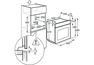 Horno - AEG BPS351120M, Función Vapor, Pirolítico, Grill, INOX