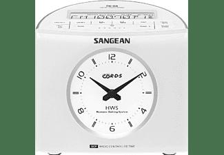 Radio despertador - Sangean RCR-9, Digital, FM-RBDS, AM, 3.5mm, Blanco