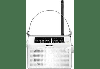 Radio portátil - Sangean PR-D6, Analógica, FM/AM, Blanco