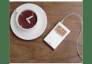 Radio portátil - Sangean DT-160, AM/FM Estéreo, PLL, Digital, Pantalla LCD, Blanco
