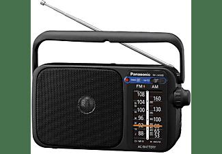 Radio portátil - Panasonic RF-2400D, FM/AM, Digital, Jack 3.5 mm, Negro