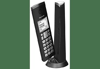Teléfono - Panasonic KX-TGK210SPB, Inalámbrico, Identificador Llamadas, Manos Libres, Bloqueo Llamada, Negro