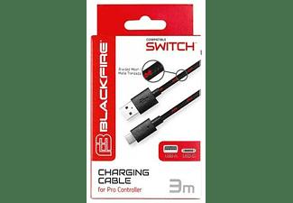 Accesorio Nintendo Switch - Ardistel, Compatible con Mando Pro, USB A a USB C, 3 m,  Negro, Rojo