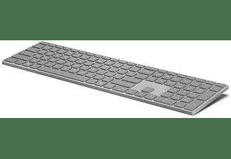 Teclado - Microsoft WS2-00012 Surface, Inalámbrico, Bluetooth, Plateado