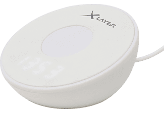 XLAYER Charging Alarm Clock Light Induktive Ladestation, 230 Volt, 1.11 Wh (3.7V /300 mAh) 3.7 Volt, Weiß