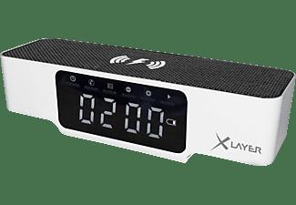 XLAYER 215766 Digitaluhr alle Geräte mit 5V Ladeinput, 230 Volt, 6.66 Wh (3.7V/1.800 mAh) 3.7V, Weiß