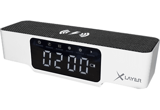 XLAYER 215766 Digitaluhr, Weiß