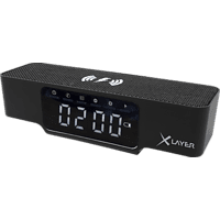 XLAYER Ladegerät XLayer Wireless Charging Alarm Clock Black Smartphones/Tablets, Digitaluhr, Schwarz