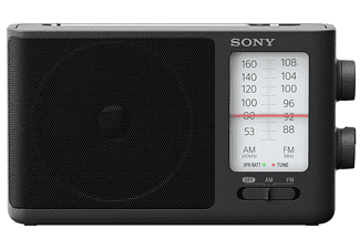 Radio portátil - Sony ICF506.CED, AM/FM, Negro