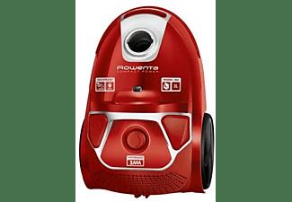 Aspirador con bolsa - Rowenta RO3953, Potencia 750W, Capacidad de 3 L, Clase A, Rojo