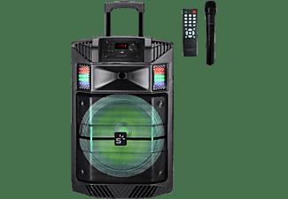 Altavoz portátil - Sunstech Massive S30BK, 60W, Iluminación, Bluetooth, USB