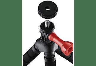 Trípode - Hama Flex 2in1 Digitales, Universal, Mini 14 cm, 64 g, Rojo y negro