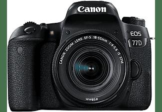 Cámara Reflex - Canon EOS 77D + Objetivo 18-55MM IS STM, SLR, 24.2MP Sensor CMOS, WiFi, Bluetooth, NFC
