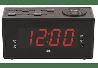 Radio despertador - OK OCR 310, Pantalla LED de 1.2 '', 2 Tipos de Alarma, Radio FM, Negro