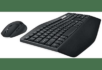 Pack Teclado + Ratón - Logitech MK850, Cable/Inalámbrico, Bluetooth, USB, Negro
