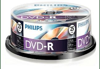 Bobina DVD-R - Philips DVD-R DM4S6B25F/00, 25 unidades, 4.7GB