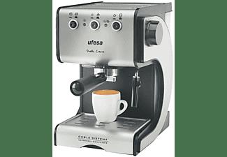 Cafetera express - Ufesa CE7141 Dueto Creme 15 Bares de presión, 2 filtros especiales para crema,
