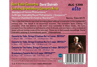 Dawid Fjodorowitsch Oistrach, Members Of Vienna Philharmonic, Royal Philharmonic, Moscow Chamber Orchestra - Violin Concertos  - (CD)