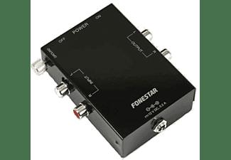 Preamplificador de giradiscos - Fonestar TC-7, convertidor de audio, con cápsula magnética, Negro