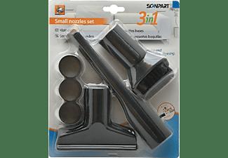 Accesorios aspiradora - Scanpart 1190000112, 3 piezas, Diámetro de 35 mm, Negro