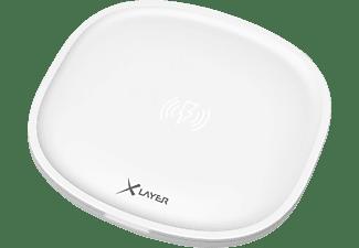 XLAYER Single Induktive Ladestation alle Geräte mit 5V Ladeinput, 5/9 Volt, Weiß
