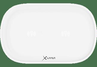 XLAYER Double Induktive Ladestation alle Geräte mit 5V Ladeinput, 5 und 9 Volt, Weiß