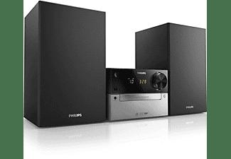 Microcadena - Philips MCM 2300/12, 15W, Radio digital FM, CD, Despertador, USB