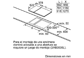 Encimera - Balay 3EB640LQ, Modular Teppan Yaki, Acero inoxidable, Eléctrica, 2 zonas, Inox