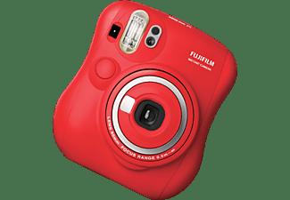 Cámara instantánea - Fujifilm Instax Mini 25, Ajuste del brillo, Rojo + Álbum de fotos + Kit pinzas