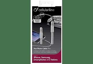 Cellularline 36386 1m 3.5mm 3.5mm Gris cable de audio