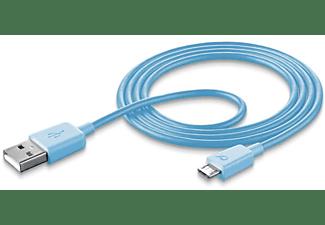 Cellularline USBDATAMUSBSMARB 1m USB Micro USB Macho Macho Azul cable USB