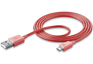 Cellularline USBDATAMUSBSMARP 1m USB Micro USB Macho Macho Rosa cable USB
