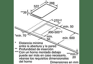 Encimera - Balay 3EB730LQ, Vitrocerámica, Eléctrica, , 2 zonas, 18 cm, Negro