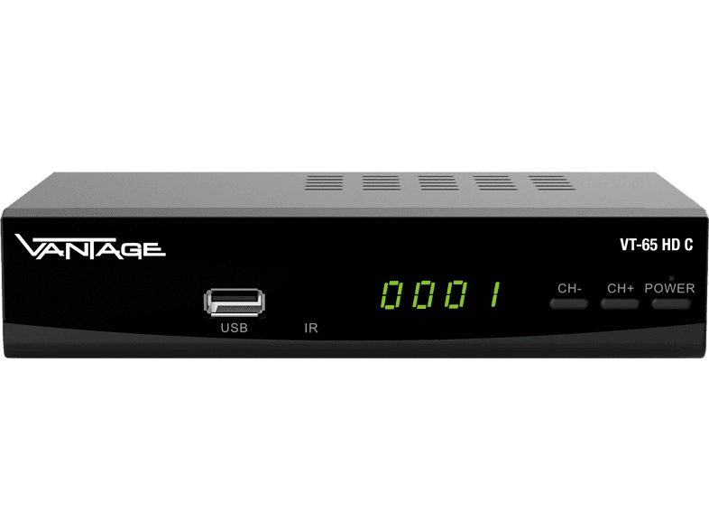 VANTAGE VT 65 HD C Kabel-Receiver (HDTV, DVB-C, DVB-C2, Schwarz)