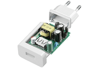 Cargador USB - Cellularline ACHSMKIT15WMUSBW Interior Blanco cargador de dispositivo móvil
