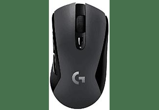 Ratón - Logitech G603 RF inalámbrica + Bluetooth Óptico 12000 DPI, mano derecha,  Negro