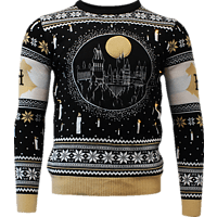 Harry Potter: Hogwarts Castle Candle Lights Xmas Pullover XL