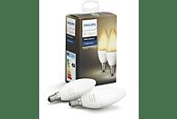 Pack 2 bombillas LED vela inteligentes E14 Philips Hue, luz blanca de cálida a fría, domótica