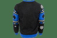 NUMSKULL Batman: In the Shadows Xmas Pullover XL Pullover, Schwarz/Blau