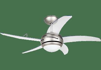 Ventilador de techo - Orbegozo CP 54132, 55W, 112 cm, 230 V-50Hz, Mando a distancia, Transparente
