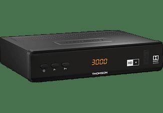 THOMSON THS844 Sat-Receiver (HDTV, HD+ Karte inklusive, DVB-S2, Schwarz)