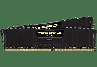 CORSAIR Arbeitsspeicher Vengeance LPX DIMM Kit 16 GB, DDR4-2666, schwarz (CMK16GX4M2A2666C16)