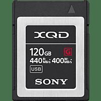 SONY XQD-G120E, XQD Speicherkarte, 120 GB, 440 MB/s