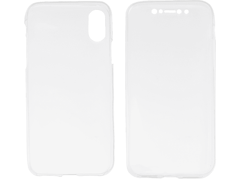 V-DESIGN V-LV 087 , Full Cover, Apple, iPhone XS/X, Thermoplastisches Polyurethan, Transparent