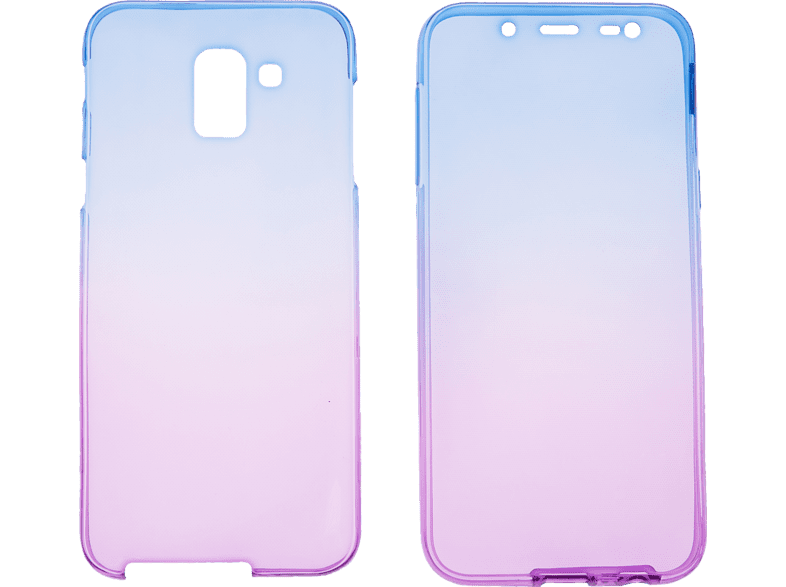 V-DESIGN V-LV 083 , Full Cover, Samsung, Galaxy J6, Thermoplastisches Polyurethan, Blau/Violett