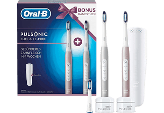 ORAL-B Pulsonic Slim Luxe in Rose + 2. Handstück in Platin
